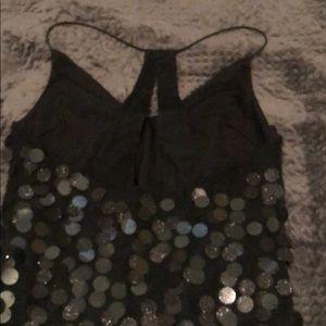 H&M Dresses - H&M DIVIDED BLACK SEQUENCE DRESS SIZE 0